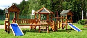 Уютный Дворик - Детские площадки и городки из дерева