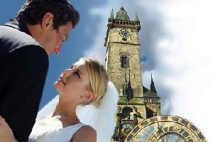 Свадьба в центре города Прага