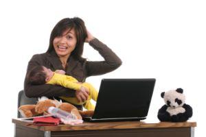 Ребенок, мама и ее работа